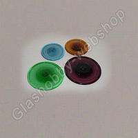 Glass rondel 80 mm Clear