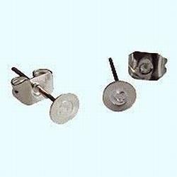 Ear studs (5 mm) 10 sets