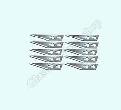 Lames de rechange pour couteau Simplex, (10 pieces)  Per 10 stuks
