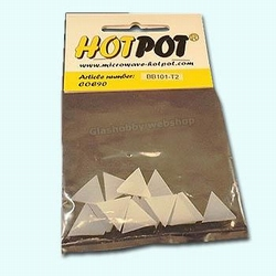 Triangle white 2 cm COE 90 (14 pcs)