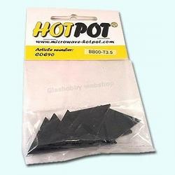 Triangle black 3,5 cm COE 90 (8 pcs)