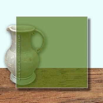 Glass Art Film, Medium Olive  46 cm x 33 cm
