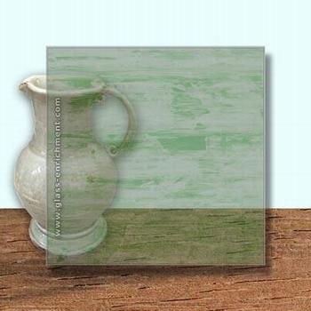 Glass Art Film, Dark Olive Clear Grain  46 cm x 33 cm