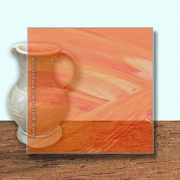 Glass Art Film, Dark Orange Wisp  46 cm x 33 cm