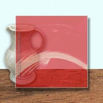 Glass Art Film, Coral Wisp  46 cm x 33 cm