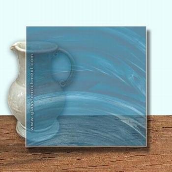 Glass Art Film, Cobalt Blue Wisp  46 cm x 33 cm