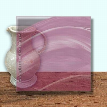 Glass Art Film, Tickled Pink  46 cm x 33 cm