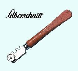 Glass cutter SILBERSCHNITT wooden handle 6 steel wheels