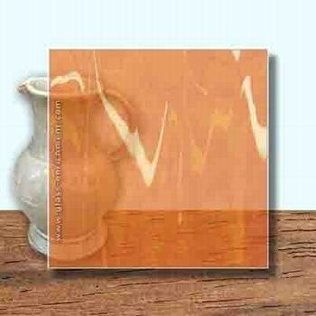 Glass Art Film, Cadmium Marble  46 cm x 33 cm