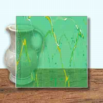 Glass Art Film, Mint Green Marble  46 cm x 33 cm