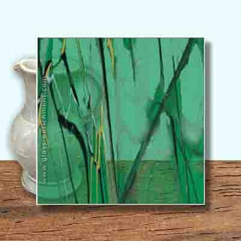 Glass Art Film, Royal Green Marble  46 cm x 33 cm