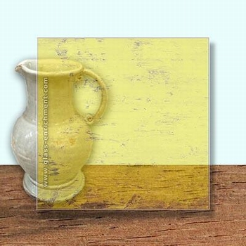 Glass Art Film, Dark Yellow Grain  46 cm x 33 cm