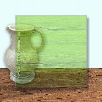 Glass Art Film, Light Green Grain  46 cm x 33 cm