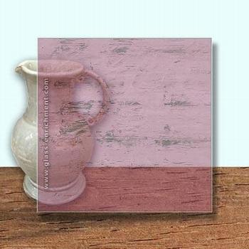 Glass Art Film, Cerise Grain  46 cm x 33 cm