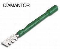 Diamantor glass cutter with round wooden handle