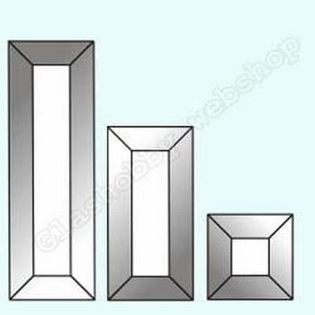Bevels klar rechteck, 76 x 25 mm