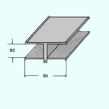 Profilé H 8 x 4,5 mm