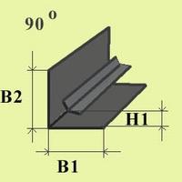 Blei profile L 8 x 4,5 (laterne blei, 90 grad)