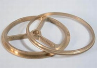Lamp ring + wheel, brass, 57 mm