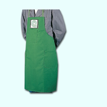 Working apron, green with pockets