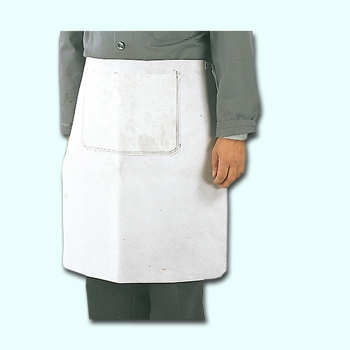 Work Apron, Leather 60 x 60 cm, with bag, Cut Protection 2