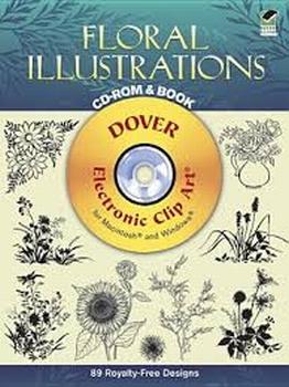 Floral Illustrations, Boek + CD rom, voor Mac. en Windows