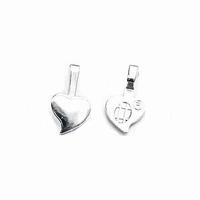 Aanraku silver plated heart bails