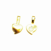 Aanraku 18k gold plated heart bails