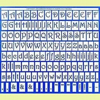 Etching pattern Large alphabet