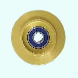 Aluminum Guide Wheels with Bearings and Rubber