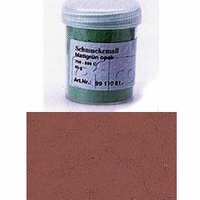 Enamel powder opaque tobacco brown