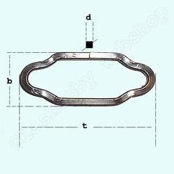 Grove ketting , brons  Per meter