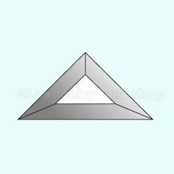 Bevel driehoek, 76 x 76 x 108 mm