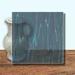 Glass Art Film, Zircon Blue Marble 46 cm x 33 cm