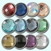 Faceted crystal chunks snaps 18 mm, set of 12