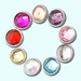 Faceted crystal chunks snaps 12 mm, set of 9